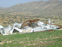 Demolished structure in Khirbet Yarza (2011)