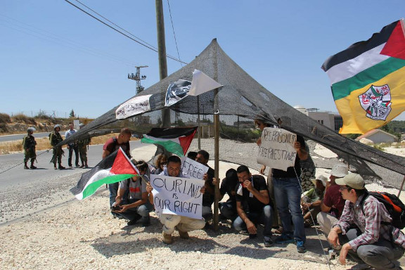 Fifth Canaan protest village built on annexed Palestinian land in the middle of the illegal Gush Etzion Colonial block