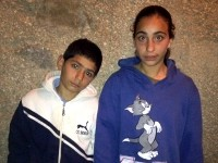 Muhammad (12) and Dina Jweles (14)