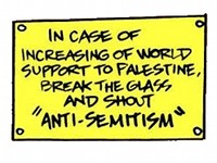 In case of increasing support to palestine shout 'Antisemitism!'