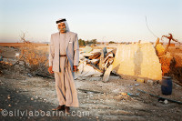 Sheik Saiah stands in front of ruins of what was his house in al-Arakib (© silvia boarini)